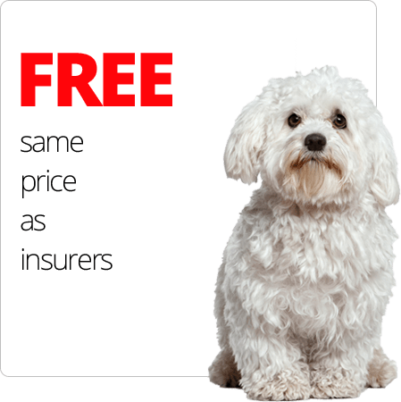 FREE same price as insurers